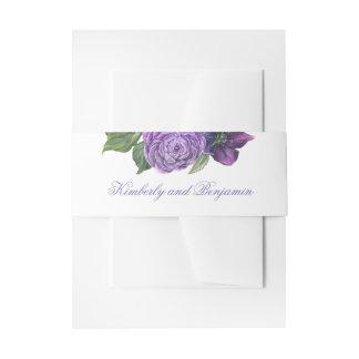 Cintas Para Invitaciones Flores púrpuras de la acuarela del ciruelo y de la