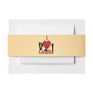 Cintas Para Invitaciones I jirafas del corazón