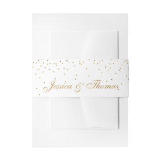 Cintas Para Invitaciones La colección atractiva del boda del confeti del