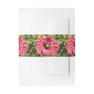 Cintas Para Invitaciones La macro roja bonita de la flor de la amapola