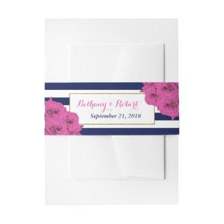 Cintas Para Invitaciones Los rosas de lujo modernos elegantes del rosa de