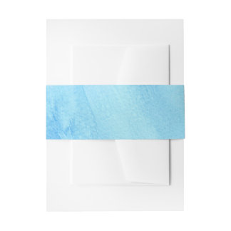 Cintas Para Invitaciones Pintura azul de la acuarela de la precipitación