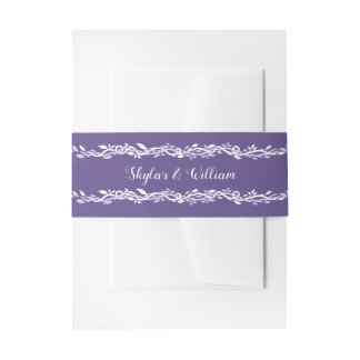 Cintas Para Invitaciones Púrpura bonita simple del boda ultravioleta