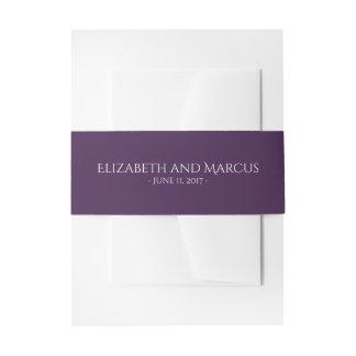 Cintas Para Invitaciones Púrpura de banda del Belly para la colección