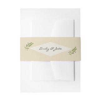 Cintas Para Invitaciones Retrato de envío del paquete natural simple del