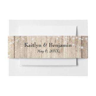 Cintas Para Invitaciones Secuencias rústicas de madera y de la luz de Brown
