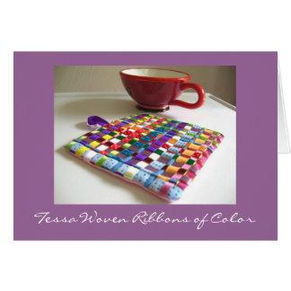 Cintas tejidas Tessa de la tarjeta del color