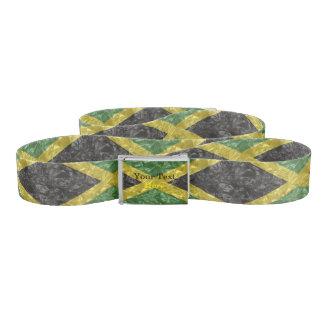 Cinturón Bandera jamaicana - arrugada