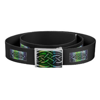 Cinturón Cinturón, nudo celta, negro, azul, verde,