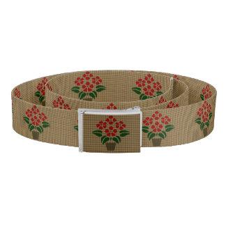 Cinturón Falsa flor de Poinsetta de la armadura en pote