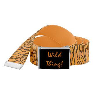 Cinturón Rayas salvajes personalizadas del tigre de la cosa