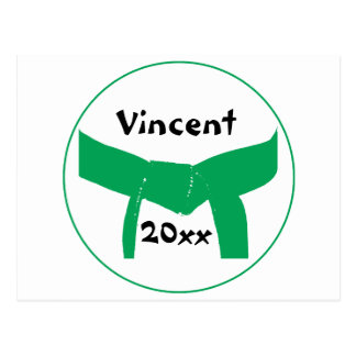 Cinturón verde de los artes marciales postal