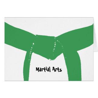 Cinturón verde de los artes marciales tarjeta pequeña