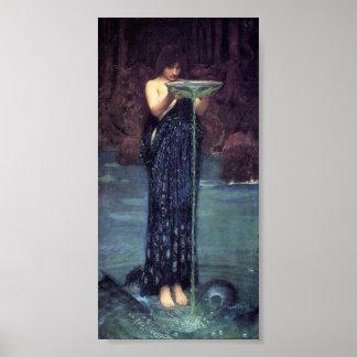 Circe desagradable - Circe con un cuenco de Ponsei Posters