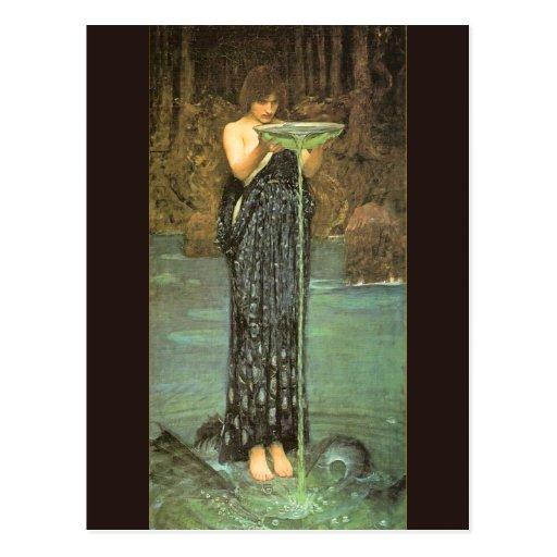 Circe Invidiosa - 1892 de John William Waterhouse Tarjeta Postal