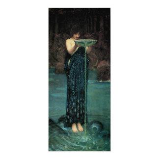 Circe Invidiosa por el Waterhouse, Victorian del Invitación 10,1 X 23,5 Cm