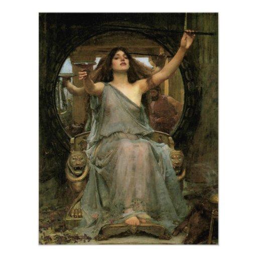 Circe que ofrece la taza a Ulises por el Invitación