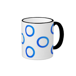 Circles - Mug - Blue Taza A Dos Colores