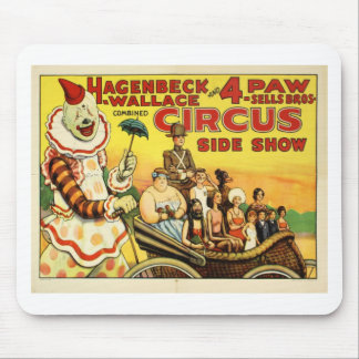 Circo de antaño alfombrilla de ratón