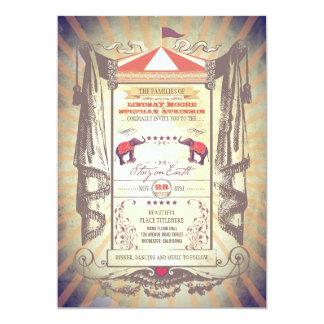 circo del cr invitación 12,7 x 17,8 cm
