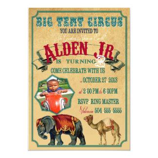 Circo grande de la tienda invitación 12,7 x 17,8 cm