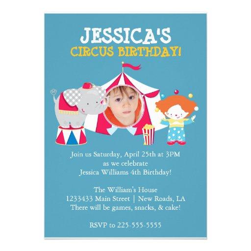 Circo Invitaciones Personales