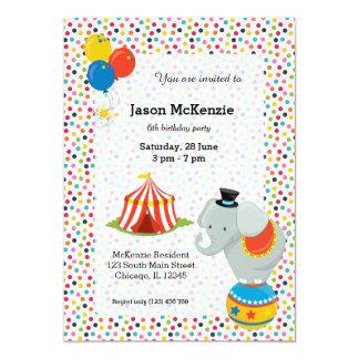 Circo Invitación 12,7 X 17,8 Cm