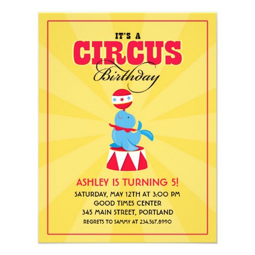 Circo/invitación de la fiesta de cumpleaños del ca