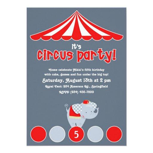 Circo invitación de la fiesta de cumpleaños del ca