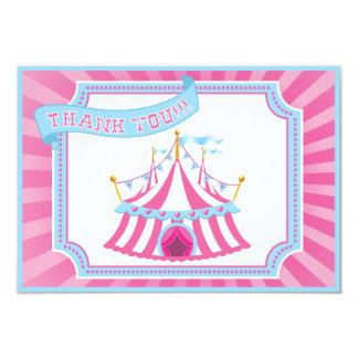 Circo o carnaval - gracias las tarjetas invitación 8,9 x 12,7 cm