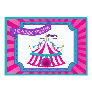 Circo o fiesta del carnaval - gracias las tarjetas invitación 8,9 x 12,7 cm