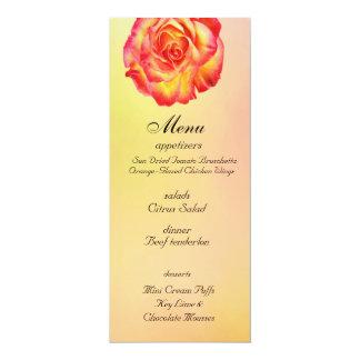 Circo precioso subió casando la tarjeta del menú invitación 10,1 x 23,5 cm