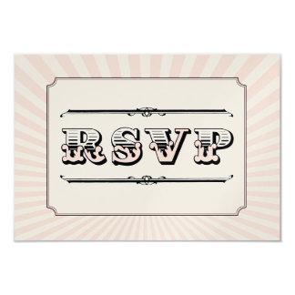 Circo Steampunk RSVP en rosa Invitación 8,9 X 12,7 Cm