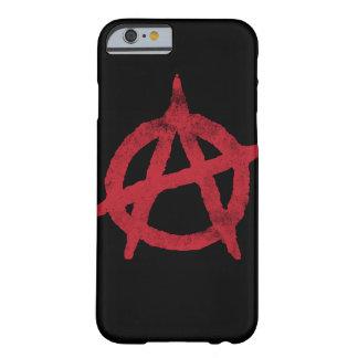 Círculo A de la anarquía Funda De iPhone 6 Barely There