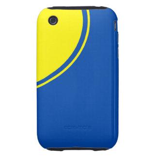 círculo amarillo azul brillante iPhone 3 tough cárcasas