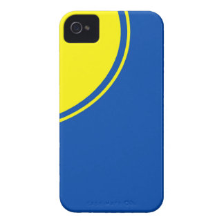 círculo amarillo azul brillante iPhone 4 carcasas