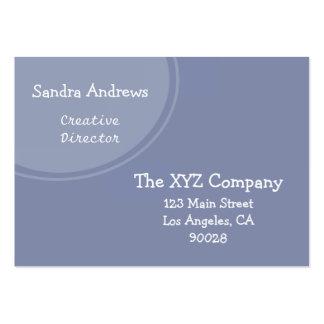 Círculo azul en colores pastel tarjeta de negocio