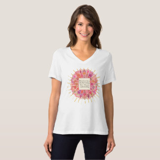 Círculo bendecido de la mandala de la sabiduría camiseta
