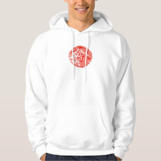 círculo chino del dragón con de las letras la sudadera pullover