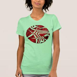 círculo con la foto tribal del LED Camisetas