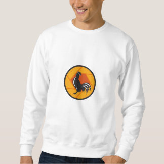 Círculo de cacareo del obturador del gallo retro sudadera
