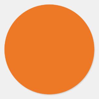 Círculo de color anaranjado pegatinas redondas