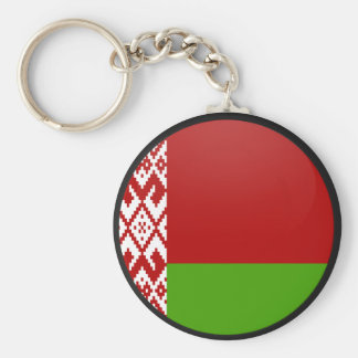 Círculo de la bandera de la calidad de Bielorrusia Llavero Redondo Tipo Chapa