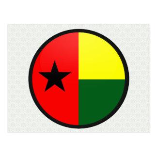 Círculo de la bandera de la calidad de Guinea-Biss Postal