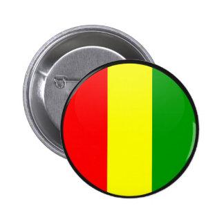 Círculo de la bandera de la calidad de Guinea Chapa Redonda 5 Cm