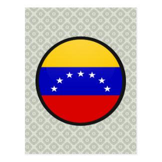Círculo de la bandera de la calidad de Venezuela Postal