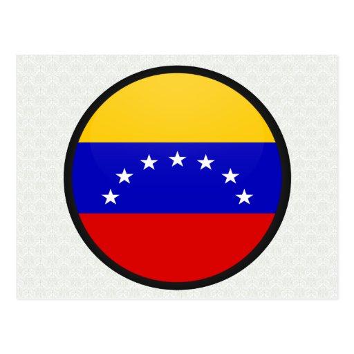 Círculo de la bandera de la calidad de Venezuela Tarjeta Postal