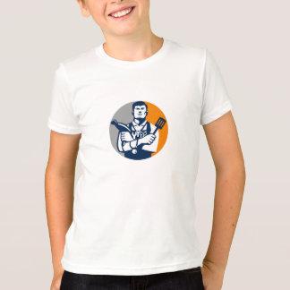 Círculo de la manitas retro camiseta