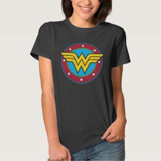 Círculo de la Mujer Maravilla y logotipo de las Camiseta