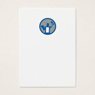 Círculo de la paleta de la albañilería del yesero tarjeta de visita